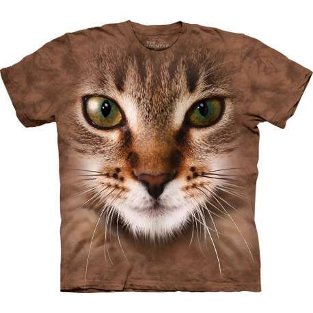 d04a72571 This amazing shirt will make you cool! The Mountain offers you the  fantastic Striped Cat Face T-Shirt. You will be impressed by the high  quality of the ...