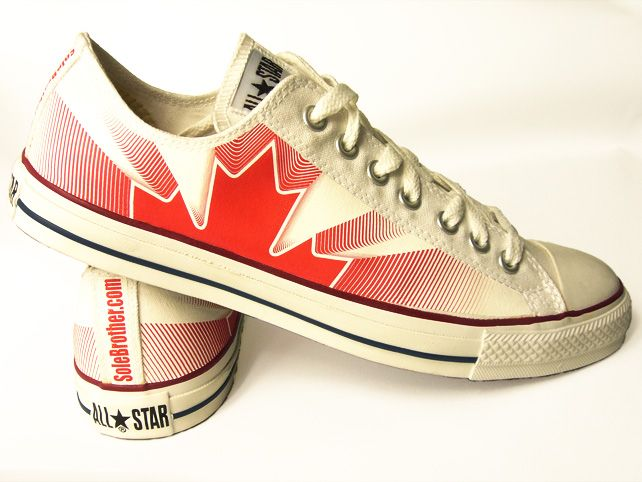 6fa5c39a2b8a ... Customized Canada Maple Leaf Converse All-Stars from solebrother.com ...