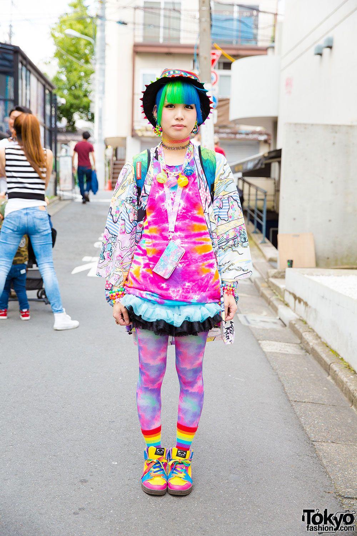 very cool kawaii / rainbow fashion Minori 8 August
