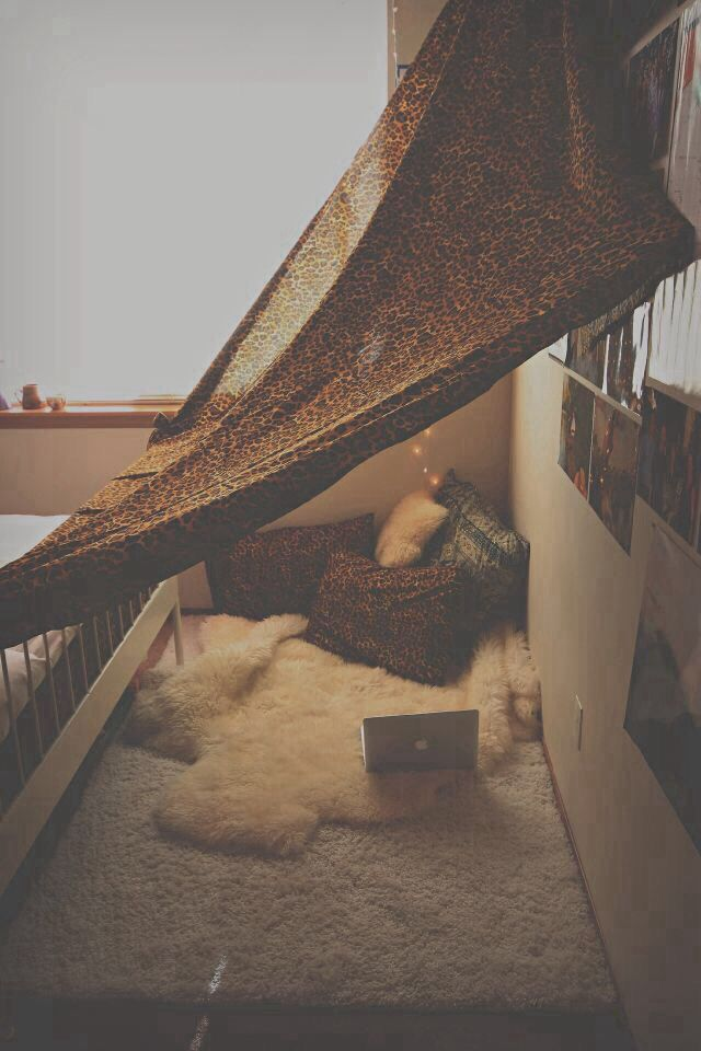 my kinda blanket fort