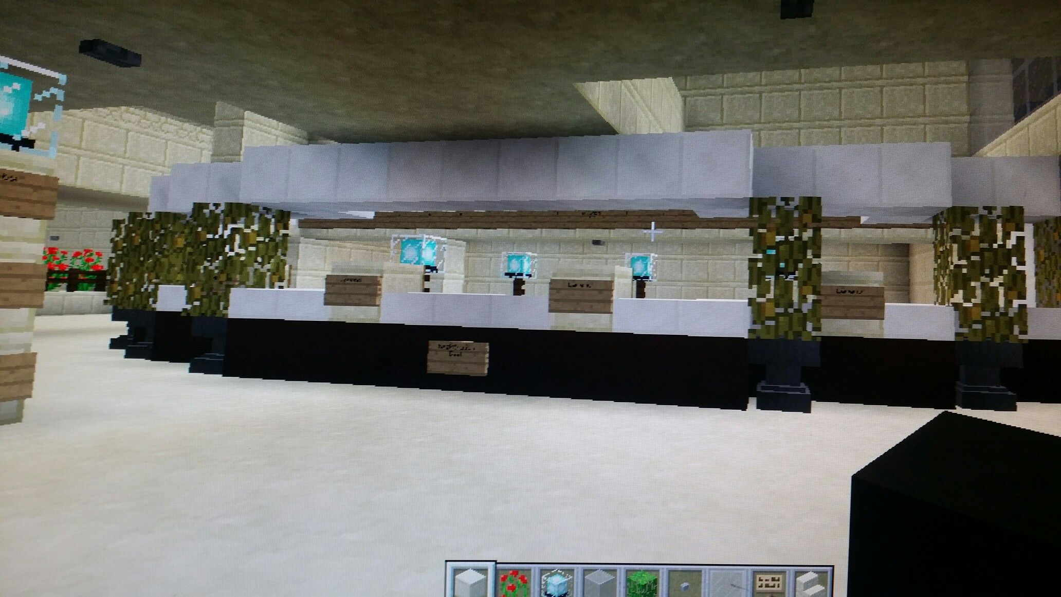 Front Desk Front Desk Minecraft Houses Building