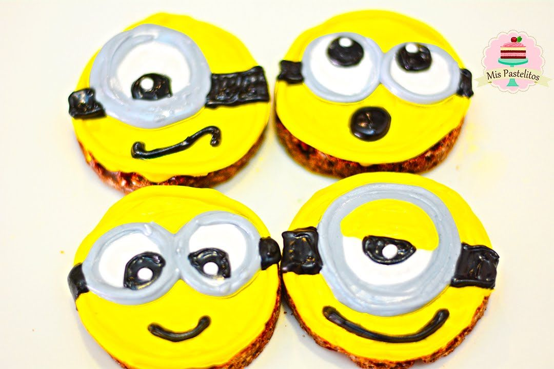 Galletas De Chocolate Sin Horno Minions Mis Pastelitos Kids Magic Cake Savoury Cake Fiesta Cake
