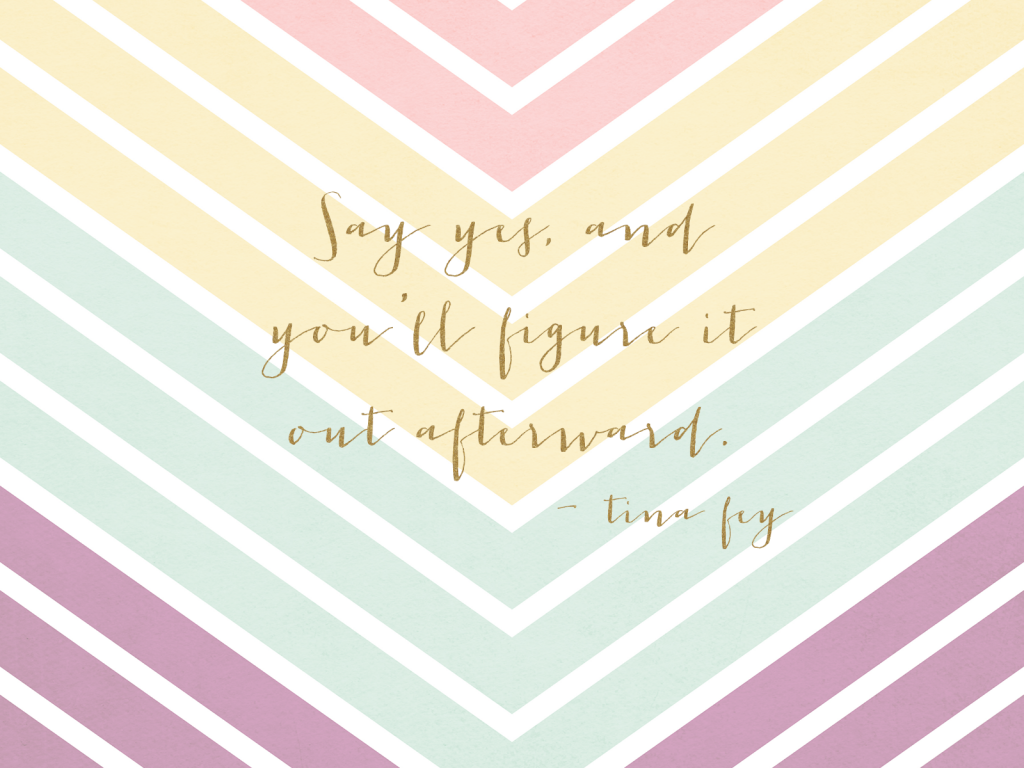 Colour Chevron 'Say Yes' quote Desktop wallpaper