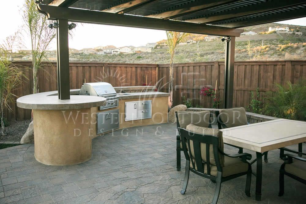 Patio barbeque island outdoor lifestyle alumawood for Bbq grill designs and plans