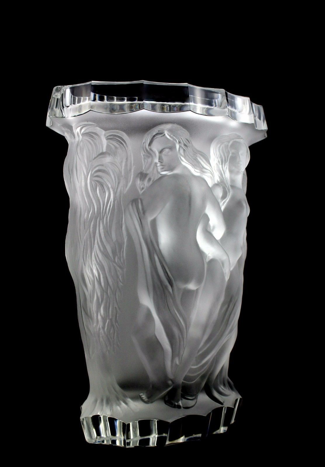 Glamorous france art deco bohemian bacchantes top quality glass glamorous france art deco bohemian bacchantes top quality glass vase ebay floridaeventfo Images