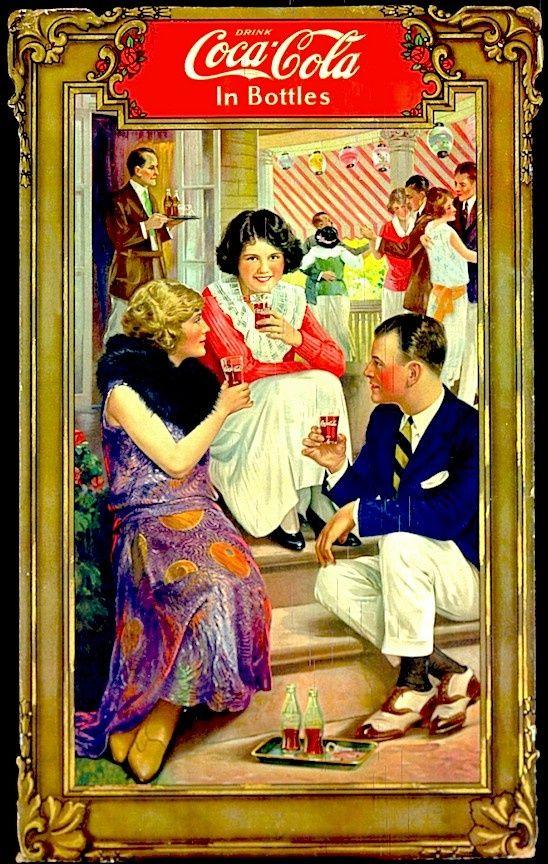 COCA-COLA ~ 1921 Garden Party Poster