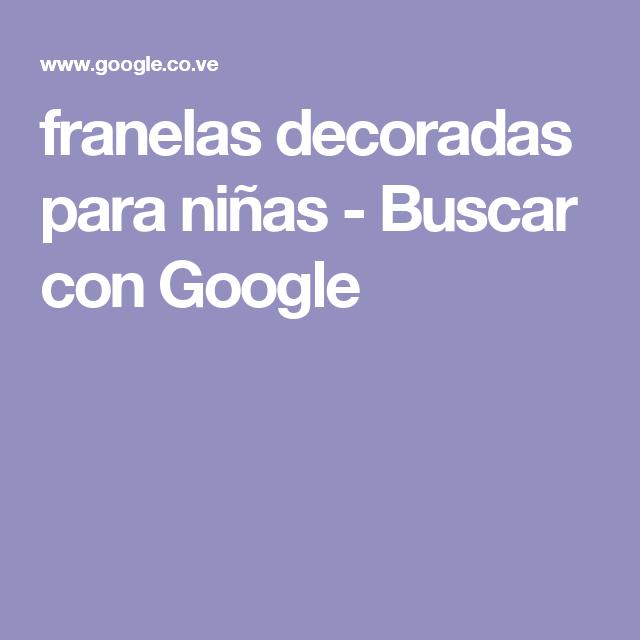 franelas decoradas para niñas - Buscar con Google