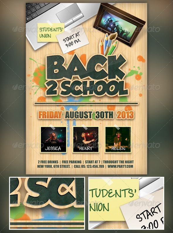 Back to School Flyer School, Flyer template and Template - calendar flyer template