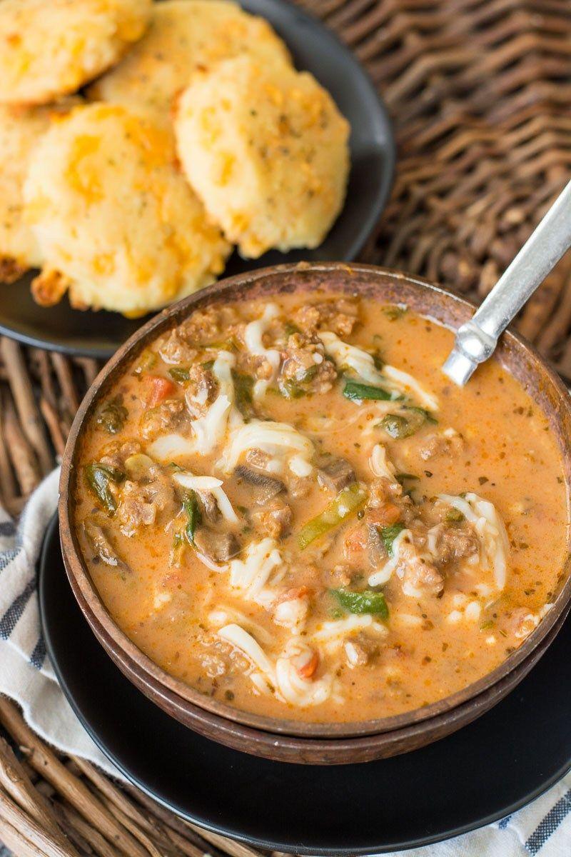 Instant Pot Pizza Soup (keto + low carb) The Best Keto