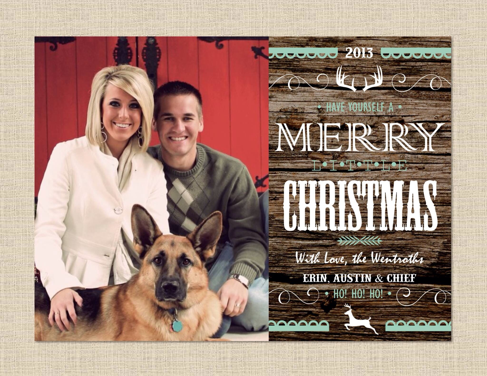 Rustic western Christmas card by Wentroth Designs. Visit us on ...