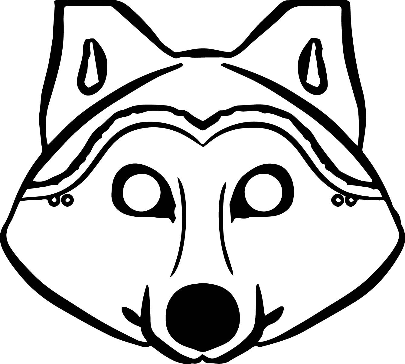 Awesome 3 Pigs Wolf Mask Coloring Pages Wolf Mask Coloring