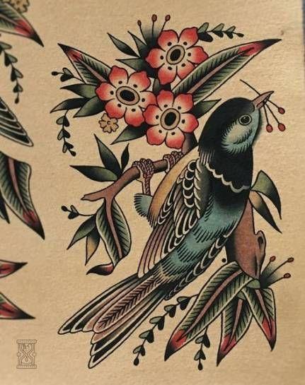 31 ideas for traditional bird tattoo flash flower -  31 ideas for traditional bird tattoo flash flower #tattoo #bird  - #bird #flash #flower #ideas #tattoo #tattooarm #tattooideasinmemoryof #traditional #traditionaltattoo