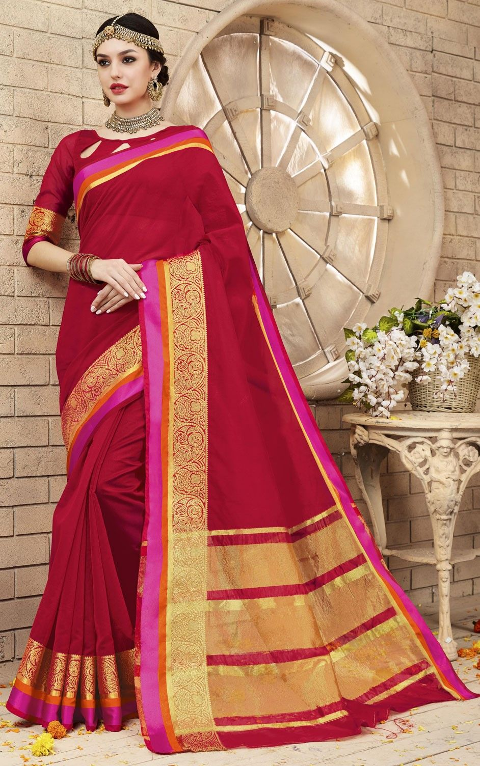 746227: Red and Maroon colour family Embroidered Sarees,Party Wear ...