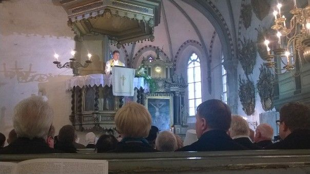 Estonia - first sermon as archbishop of Estonian Evangelical Lutheran Church. Urmas Viilma 2.2.2015