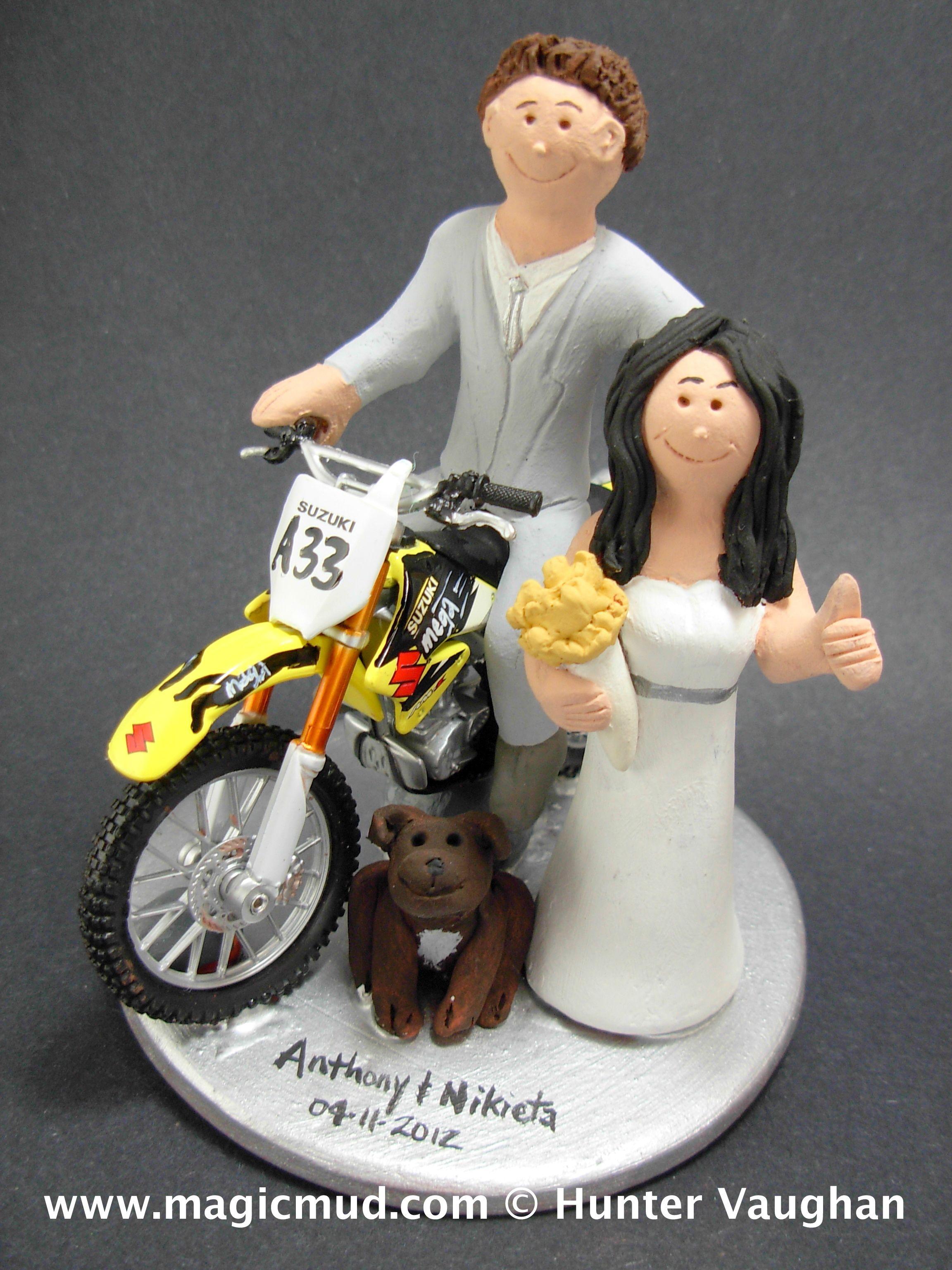 Suzuki Dirt Bikers Wedding Cake Topper 1 800 231 9814