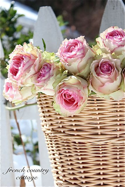 FRENCH COUNTRY COTTAGE: A Little Basket of Roses
