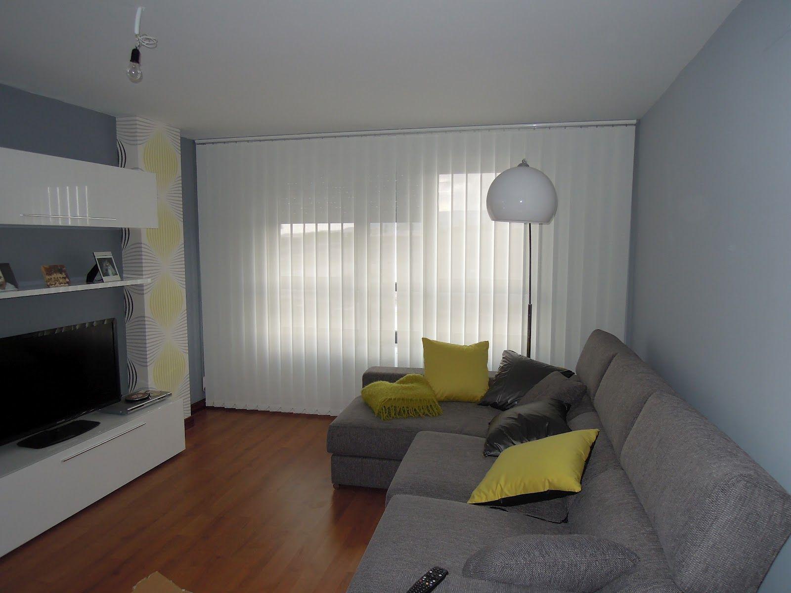 Cortinas verticales blancas cortinas verticales - Cortinas para salon estilo moderno ...