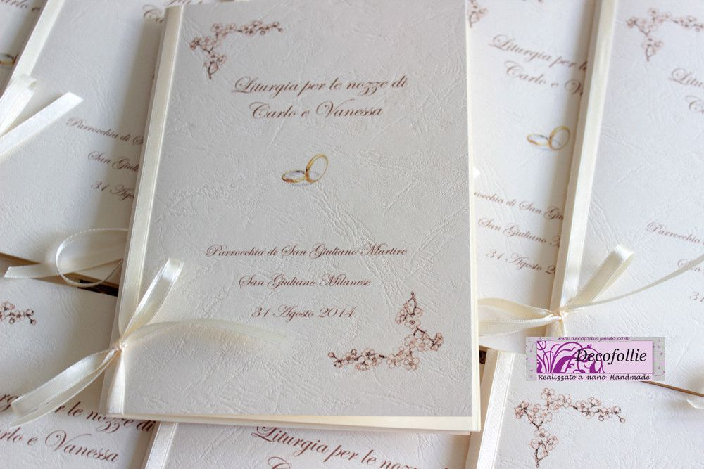 Wedding Artist Creazioni Artigianali Personalizzate Ed Uniche Per Eventi E Cerimonie Decofollies Jimdopag Idee Per Matrimoni Matrimonio Libretto Matrimonio
