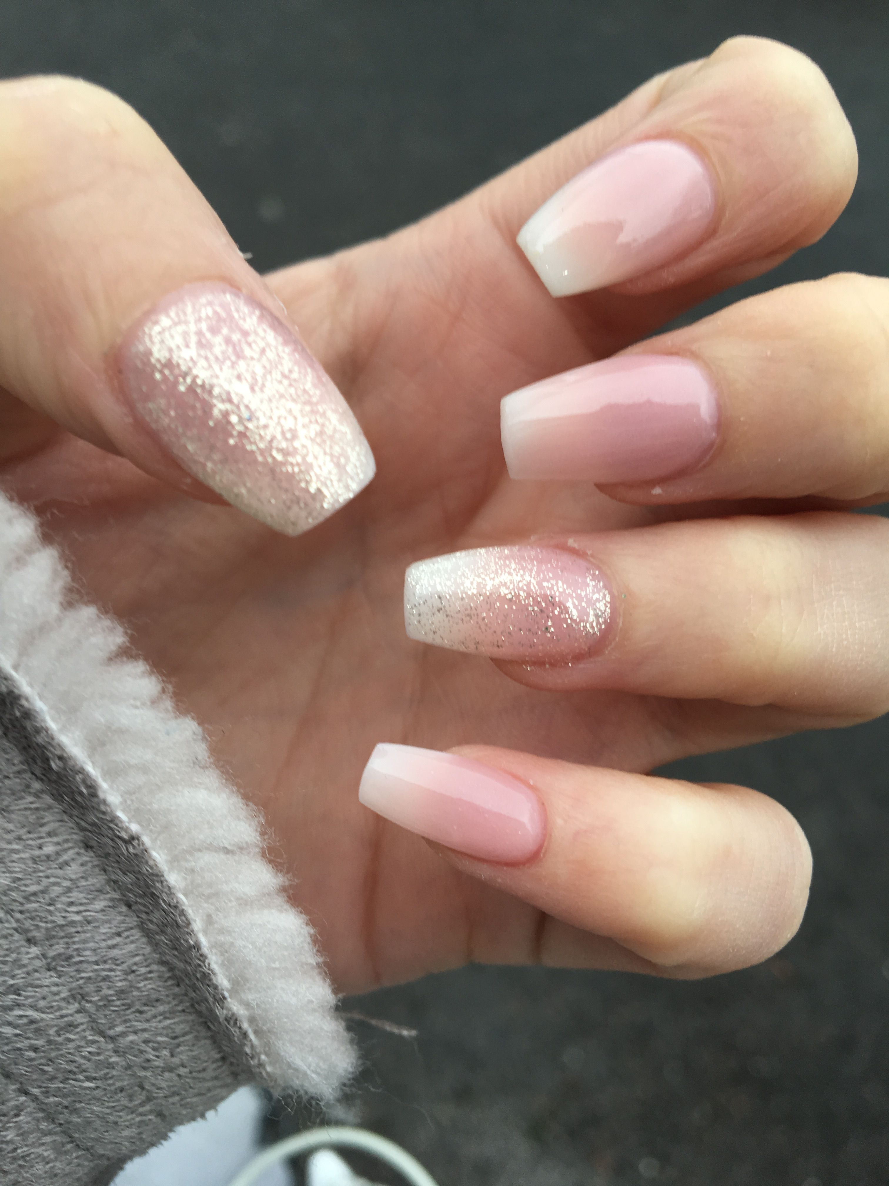 French ombré with champagne glitter | beauty hair,makeup and nails ...