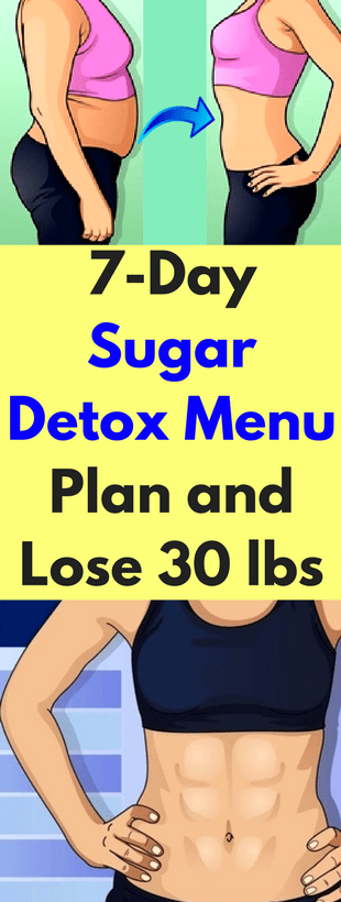 Here 7 Day Sugar Detox Menu Plan & Lose 30 lbs!!! #sugardetoxplan Here 7 Day Sugar Detox Menu Plan &...