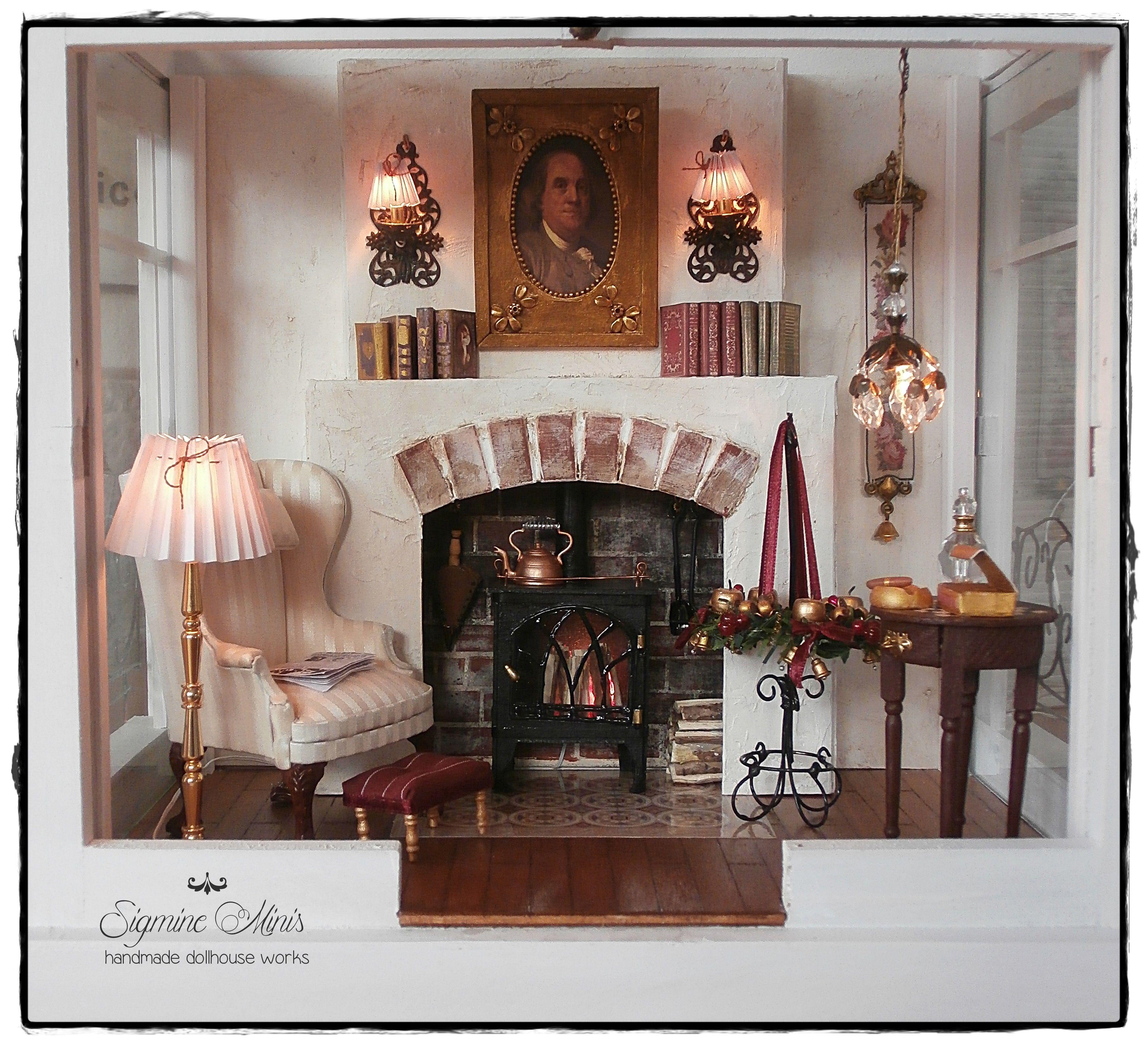 Herrenzimmer / men´s room | Miniature Roomboxes | Pinterest ...