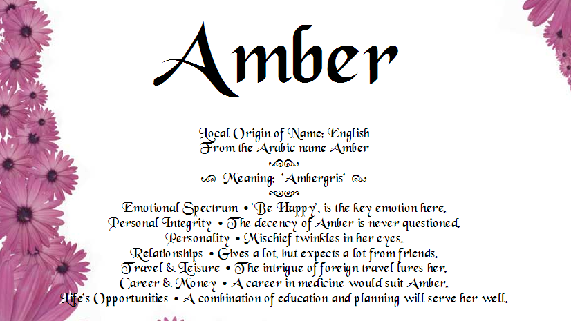 All about Amber name | Amber & Andrea Name Funny Classic