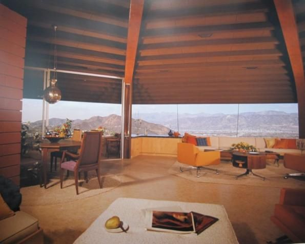 Chemosphere House (Interior), John Lautner, architect, Los Angeles, California…