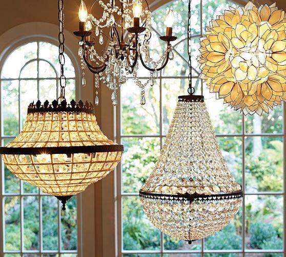 Dalila beaded crystal chandelier pottery barn beautiful bedrooms dalila beaded crystal chandelier pottery barn aloadofball Image collections