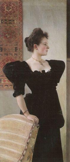 Gustav Klimt. Portrait of Marie Breunig 1894