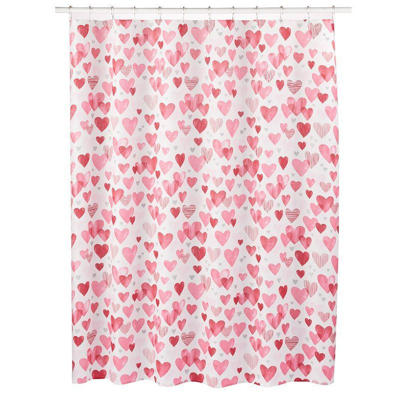 Celebrate Valentine S Day Hearts Shower Curtain With Images