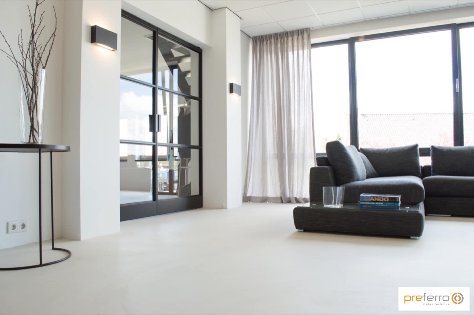 Dubbele binnendeuren met glas in woonkamer | Deuren | Pinterest