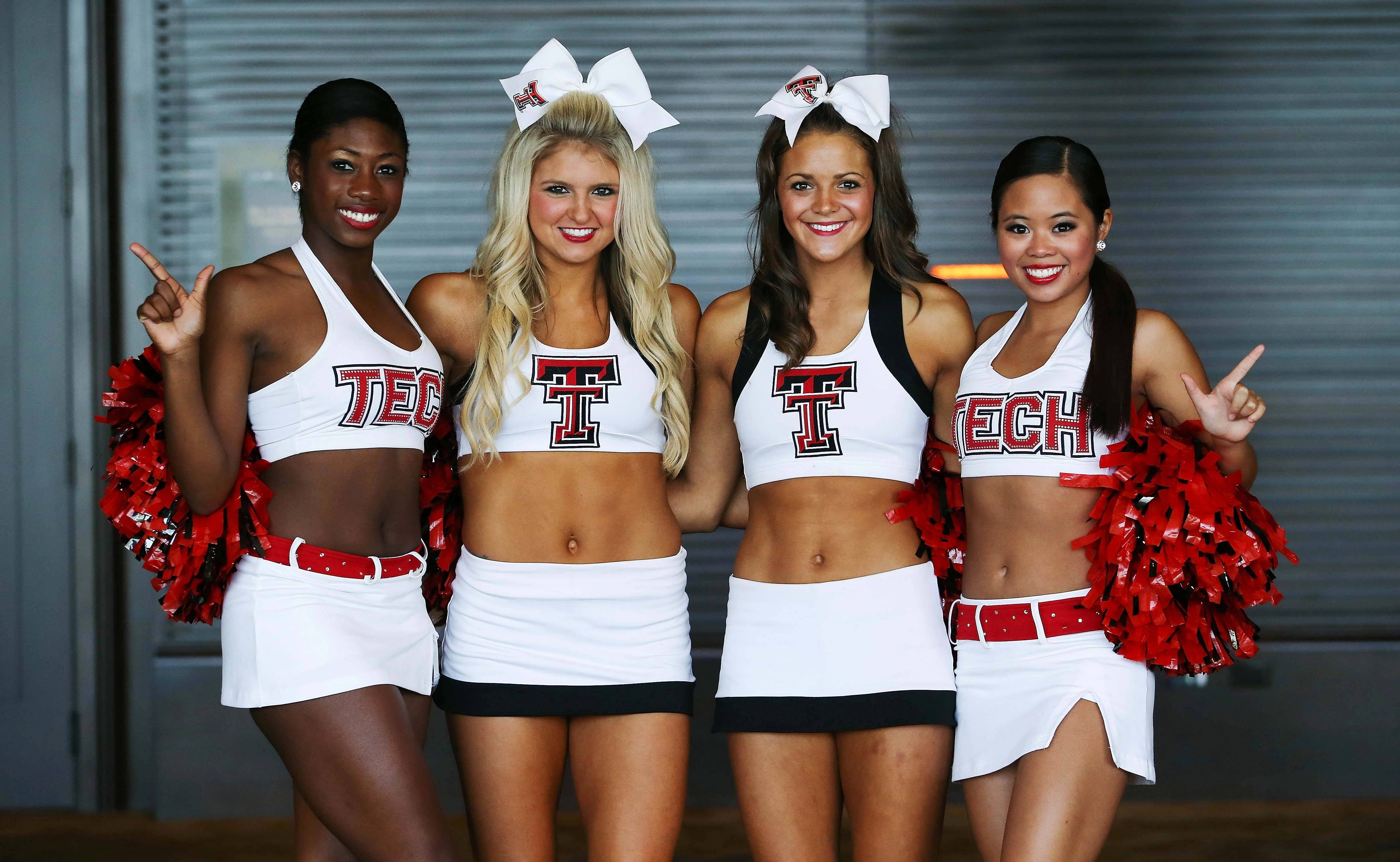 Texas Tech Cheerleaders Join Kliff Kingsbury