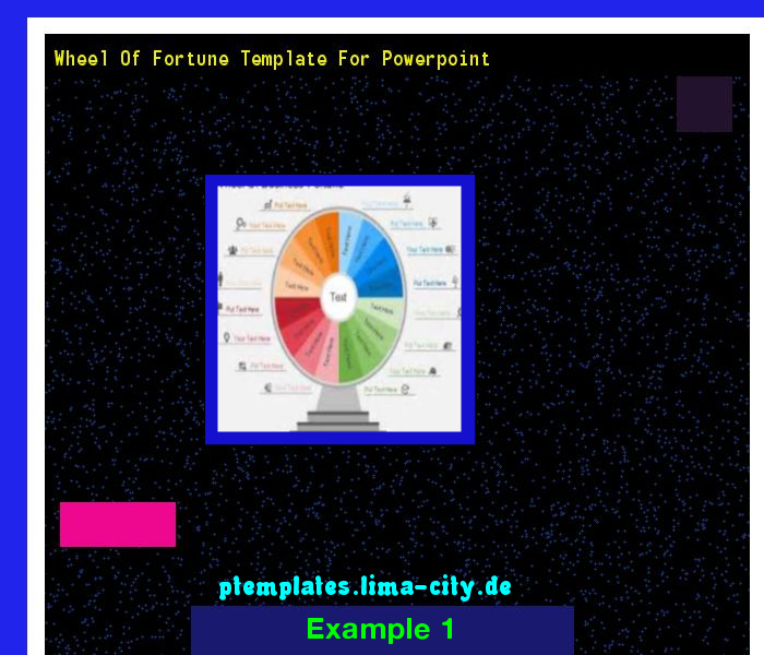 Wheel of fortune template for powerpoint. Powerpoint