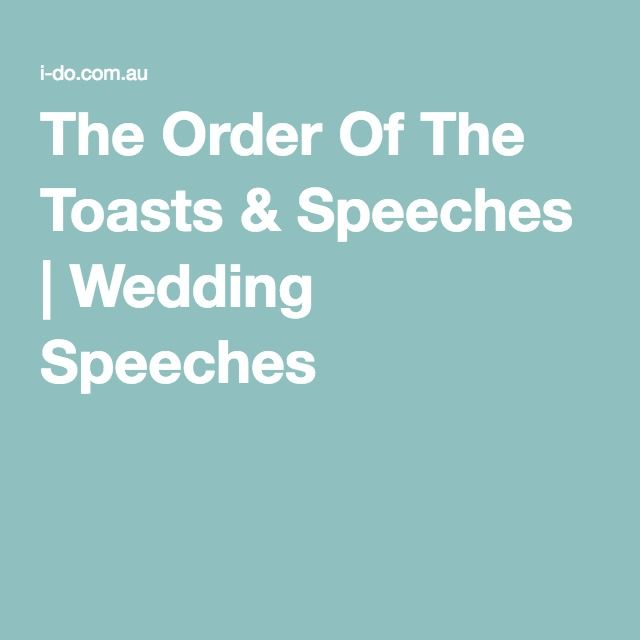 The Order Of Toasts Sches