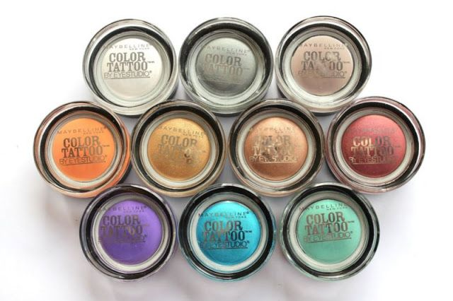 Beauty, Makeup And More: Maybelline Color Tattoo Eye Shadow First Look and Swatch