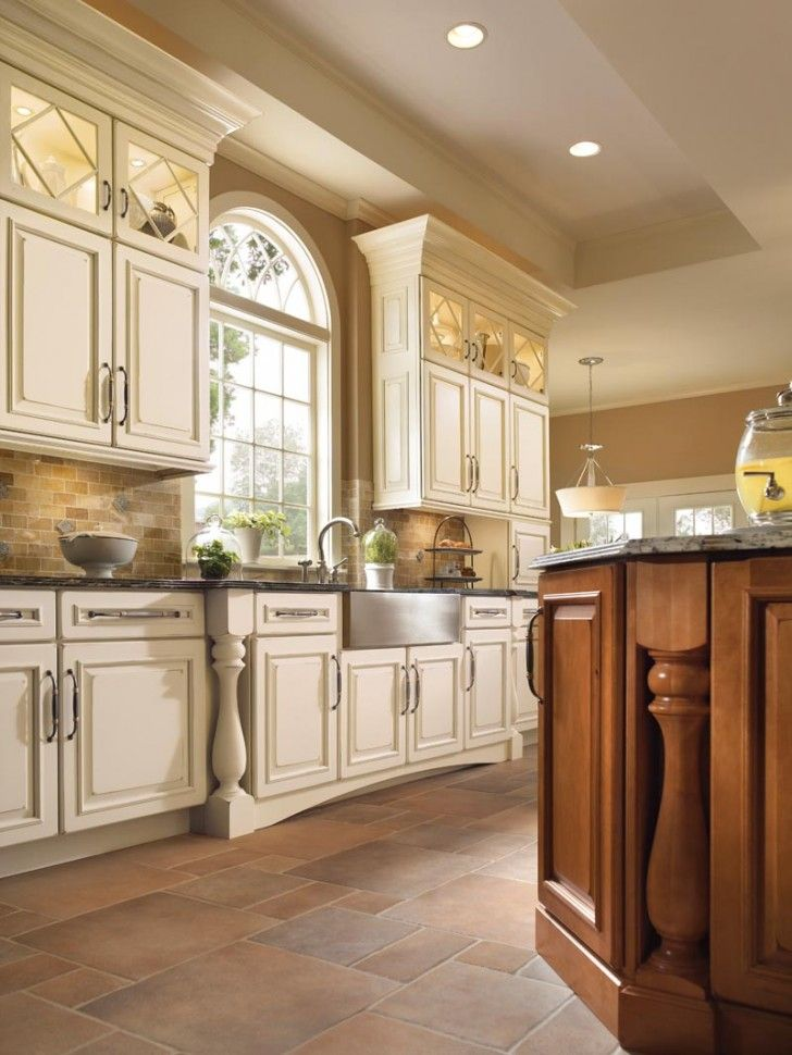 victorian kitchen design ideas with big small combination tiles