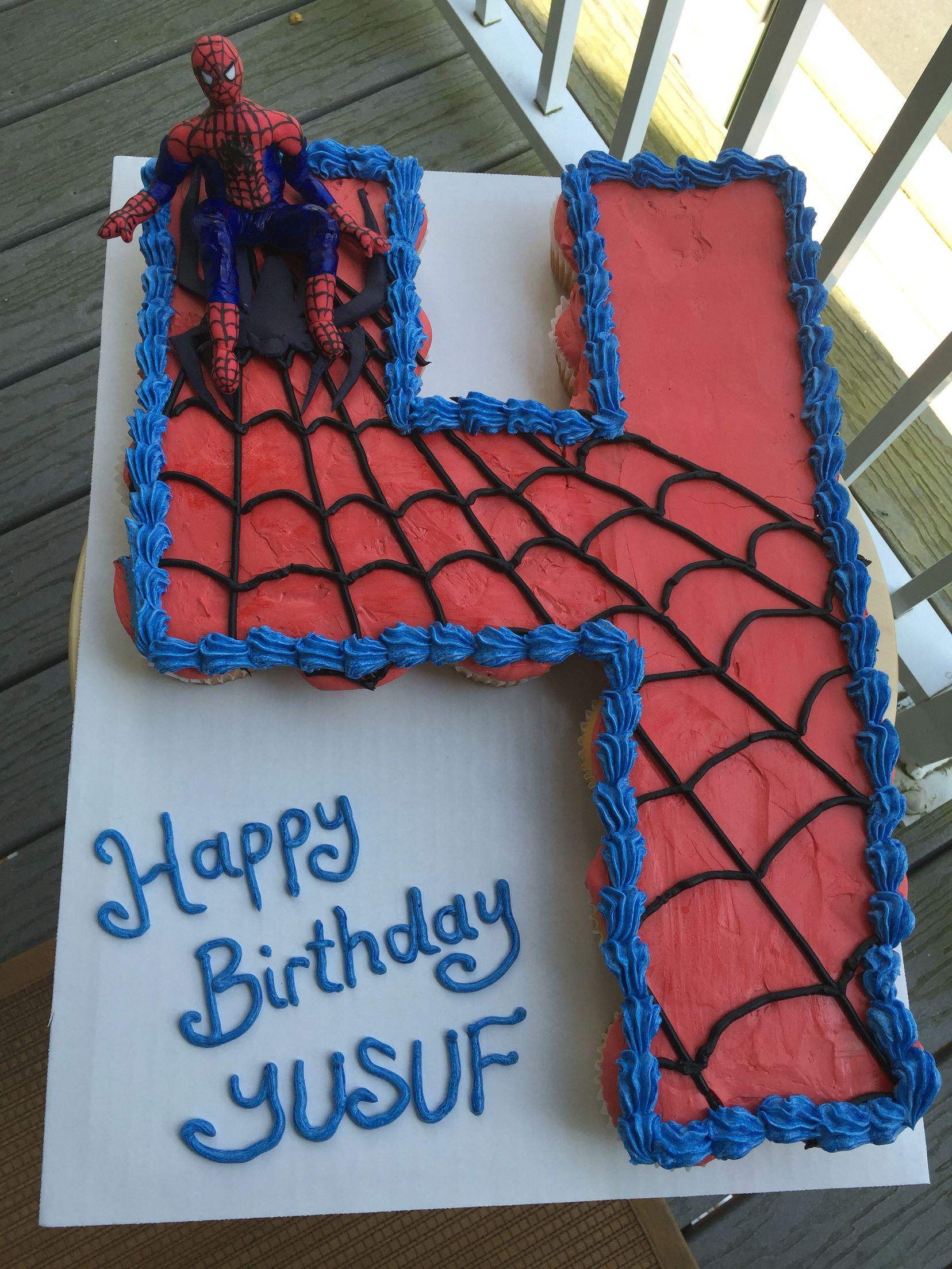 Spiderman Cupcakes Cake Spiderman Theme Cake Cakes In