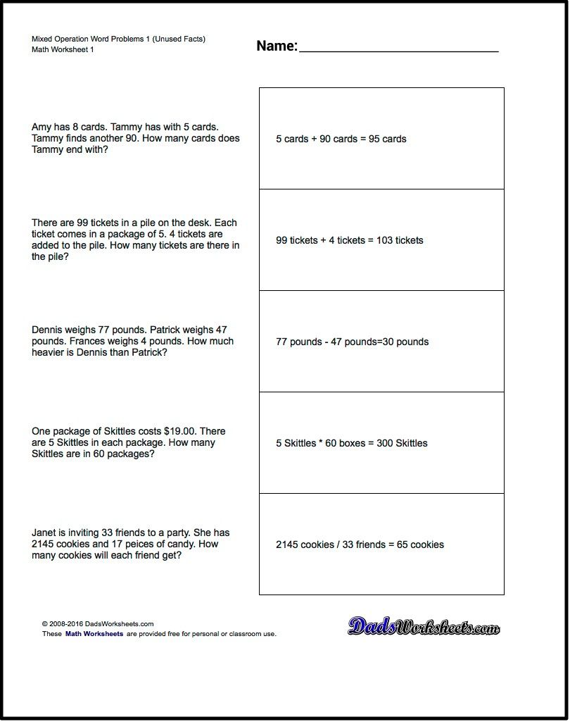Word problems are one of the first ways we see applied math in – Division Word Problem Worksheets