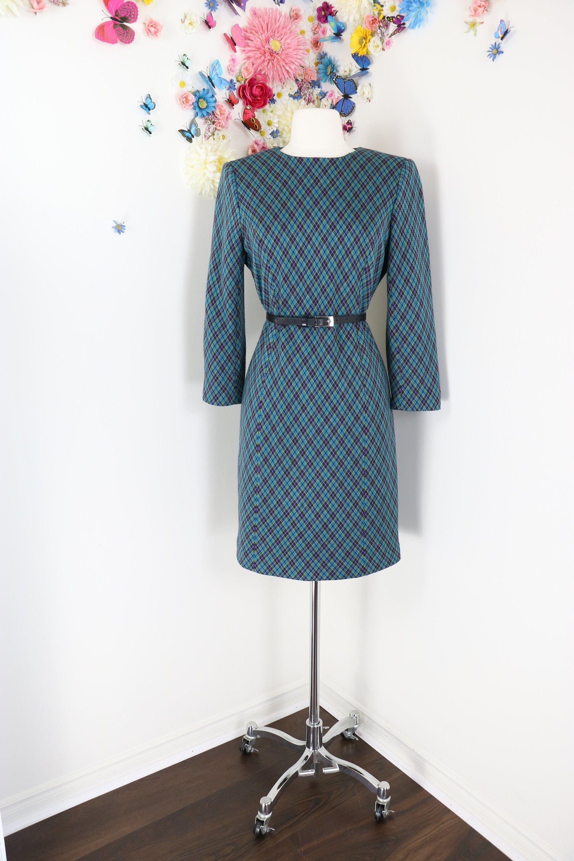 Vintage 80s Blue Plaid Shift Dress Mod 1980s Tartan Day Dress Mad Men Winter Fall Wool Knit Dress Medium In 2021 Wool Knitted Dress Mod Dress Mod Mini Dress [ 3000 x 2000 Pixel ]