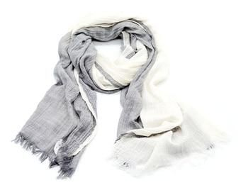 Peacesky Brand Winter Scarf Men Warm Soft Tassel Bufandas Cachecol Gray Plaid Woven Wrinkled Cotton Men Scarves-JetSet-JetSet #mensscarves