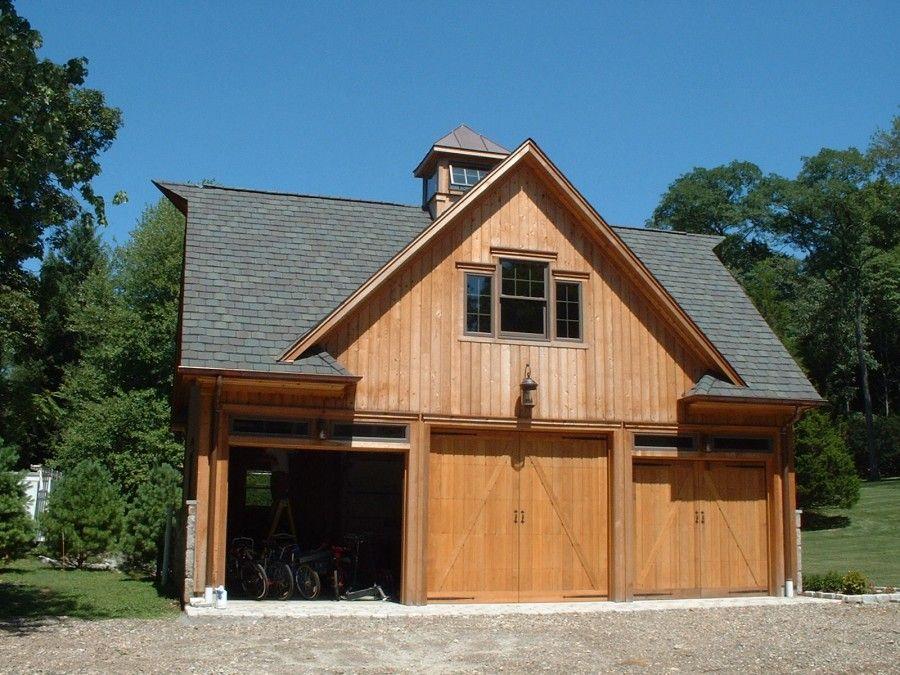 Barn Door Garage Doors | Barn Style Overhead Garage Door With False Hinges,  Matching Property .