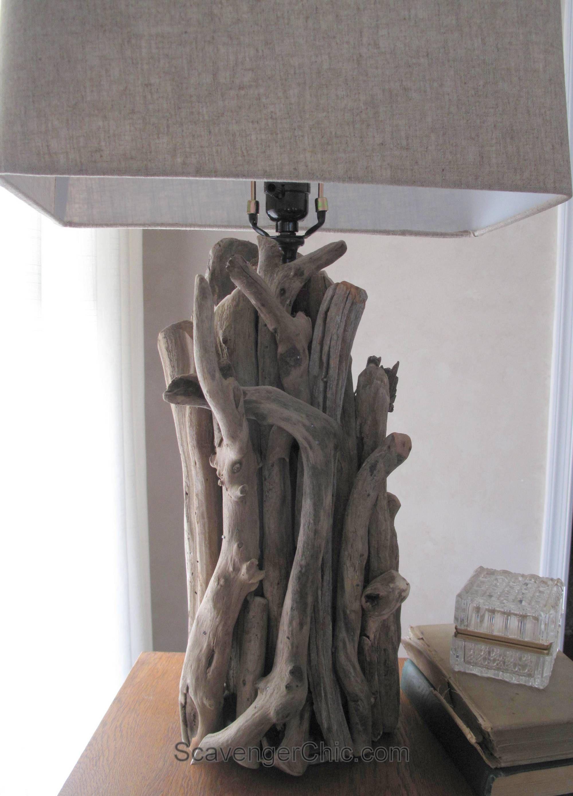 Driftwood Lamp diy, no wiring required   Beach   Pinterest ...