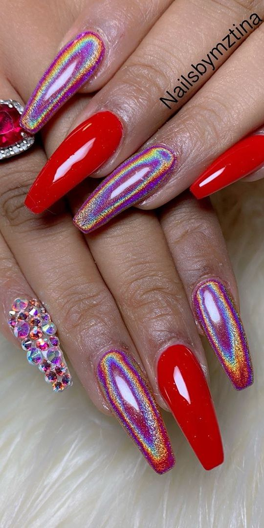 25 Awesome Nail Arts for Creative Person - Red mat nails