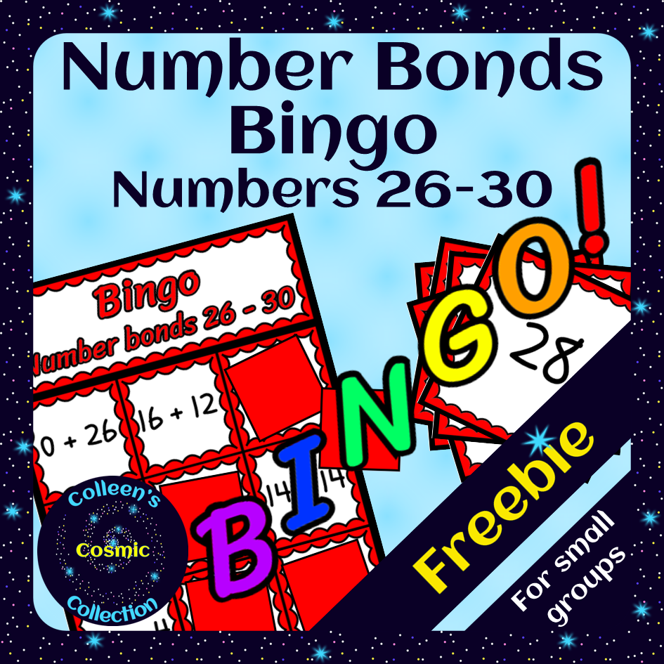 Freebie Number Bonds Bingo For Numbers 26 30 For Small Groups Made By Teachers Number Bonds Small Groups Bond [ 945 x 945 Pixel ]