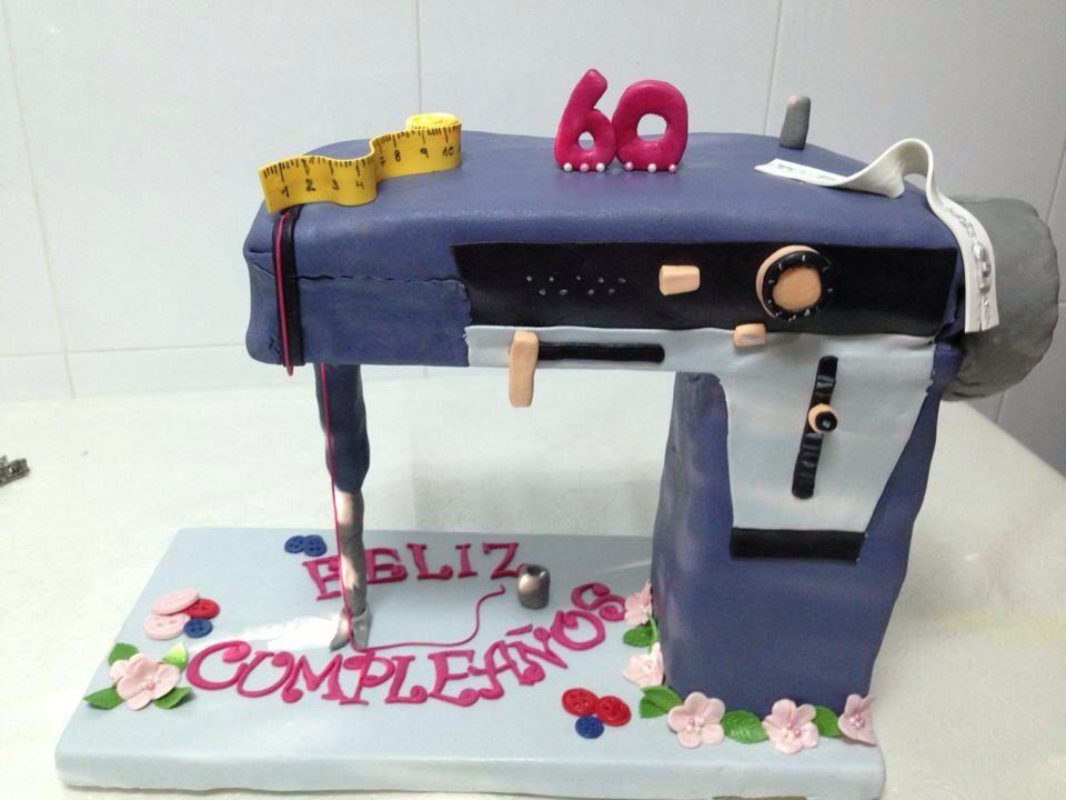 Nahmaschine Kuchen Tarta Maquina De Coser Cakemanitas Toque