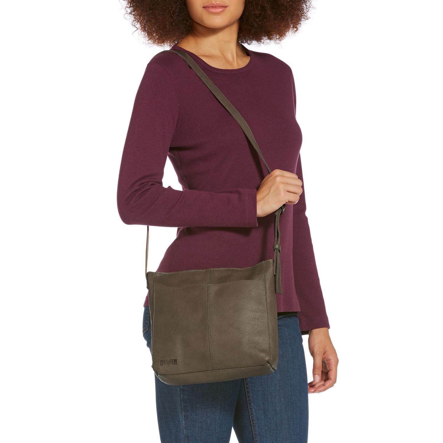 Mother's Day Gift Idea: Women's Lifetime Leather Medium Sling Bag ...