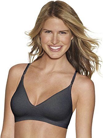 Hanes Comfy Support Comfortflex Fit Wirefree Bra Gravel Grey