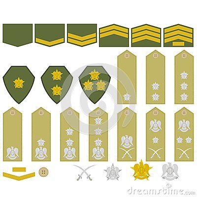 Syrian Army Insignia Military Ranks Insignia Military Insignia