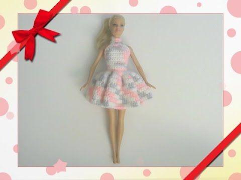 Barbie\'s - Double Crochet Dress - YouTube | Aguiles | Pinterest ...