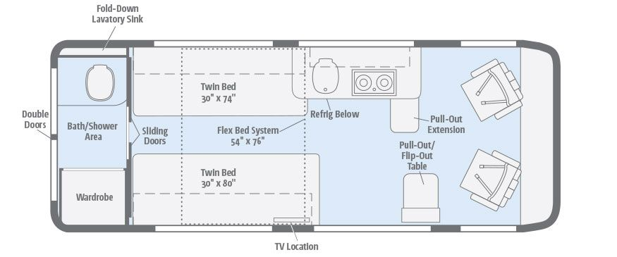 Travato | Floorplans | Winnebago RVs | Camper Van DIY | Pinterest | Rv